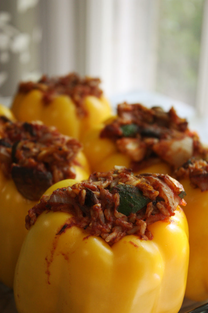 Gluten Free and Vegan Stuffed Bell Peppers